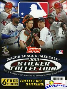 2013-Topps-Baseball-32-Full-Color-Page-Stickers-Album-with-6-Free-Stickers