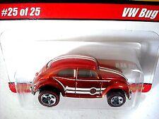 HOT WHEELS CLASSICS VW BUG SPECTRAFLAME ORANGE  5 SPOKE REDLINES 25/25 SERIES 1