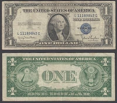 USA 1 Dollar 1935 D (F) Banknote Silver Certificate Blue Seal P ...