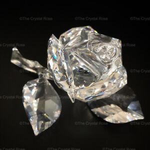 RARE-Retired-Swarovski-Crystal-Rose-Blossom-890289-Mint-Boxed-Secret-Garden