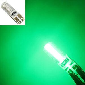 2x-Lampada-T10-LED-canbus-W5W-luce-posizione-VERDE-car-tuning-interno-auto-targa