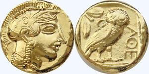 Ancient Greek Tetradrachm Silver Attica ATHENS Owl Athena Eule Repro coin