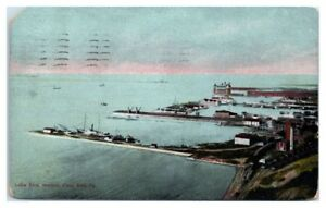 1908-Lake-Erie-Harbor-View-Erie-PA-Postcard-Postcard
