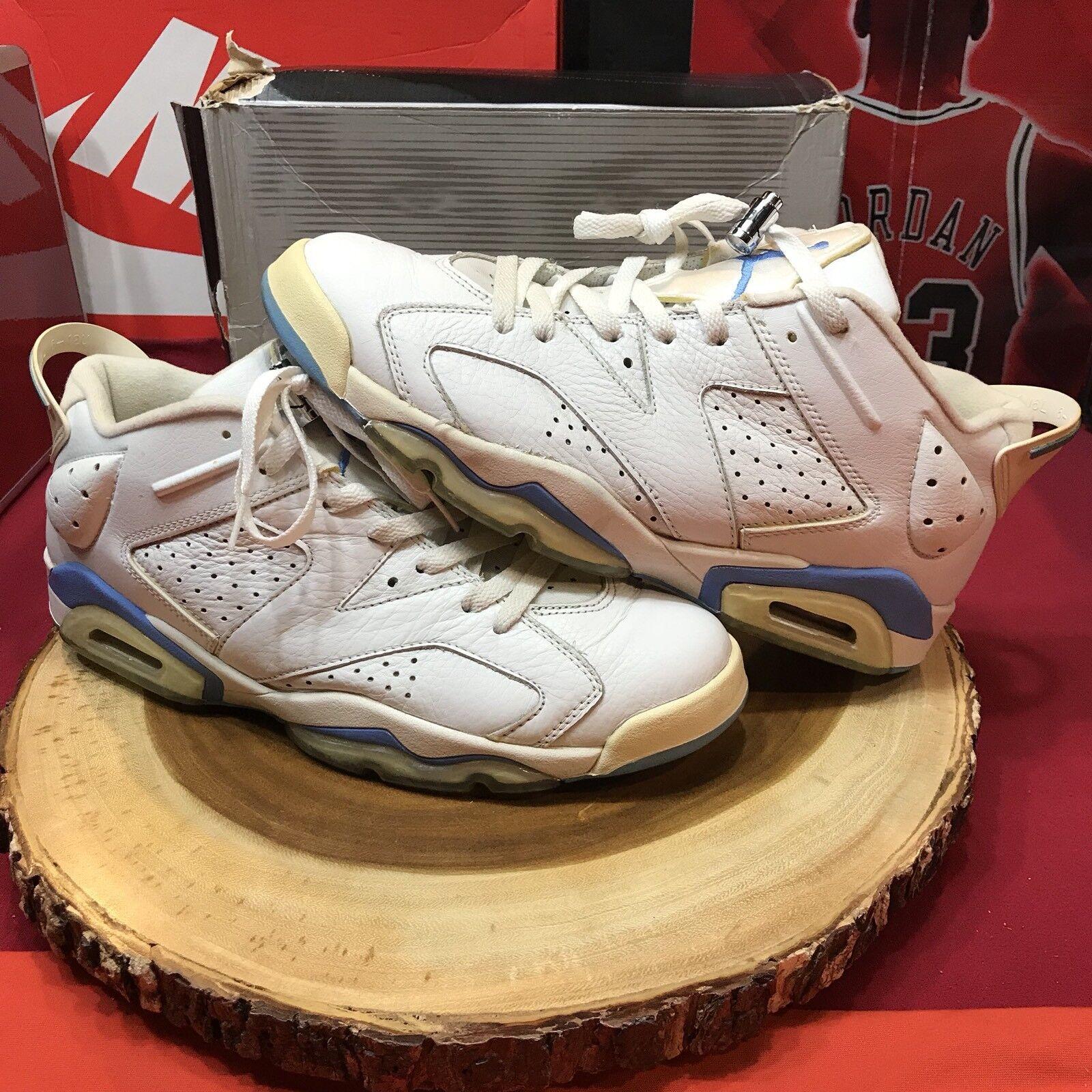 Nike Air Jordan Retro VI Low UNC University Carolina Blue 304401 141 size 11 V I