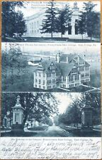 1906 Postcard: Penn State University, Campus Views - State College, Pennsylvania