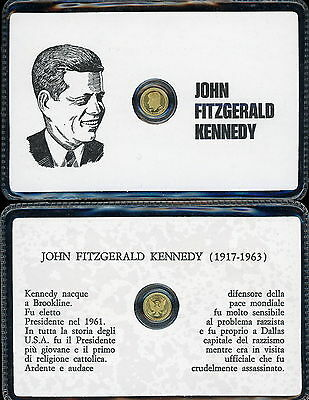D848_john Kennedy,piccola Moneta Dorata Commemorativa In Bustina Sigillata Quell Summer Thirst Coins & Paper Money Other Ancient Coins