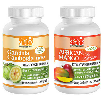 1 1 Garcinia Cambogia Extract 1300 African Mango Lean 1200 Weight Loss 618194655656 Ebay