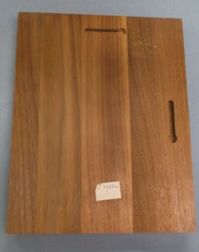 trophy parts 7x9  plaque solid american walnut blank red brass plate P1922
