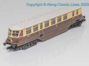 Graham-Farish-371-629-N-Gauge-GWR-Railcar-in-Great-Western-chocolate-amp-cream