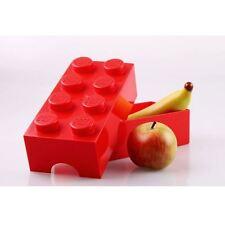 LEGO STORAGE / LUNCH BOX 8 RED KIDS SCHOOL LUNCH BOX FREE P+P
