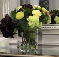 Realistic Mother's Day Artificial Silk Flower Hydrangea Rose Arrangement Vase