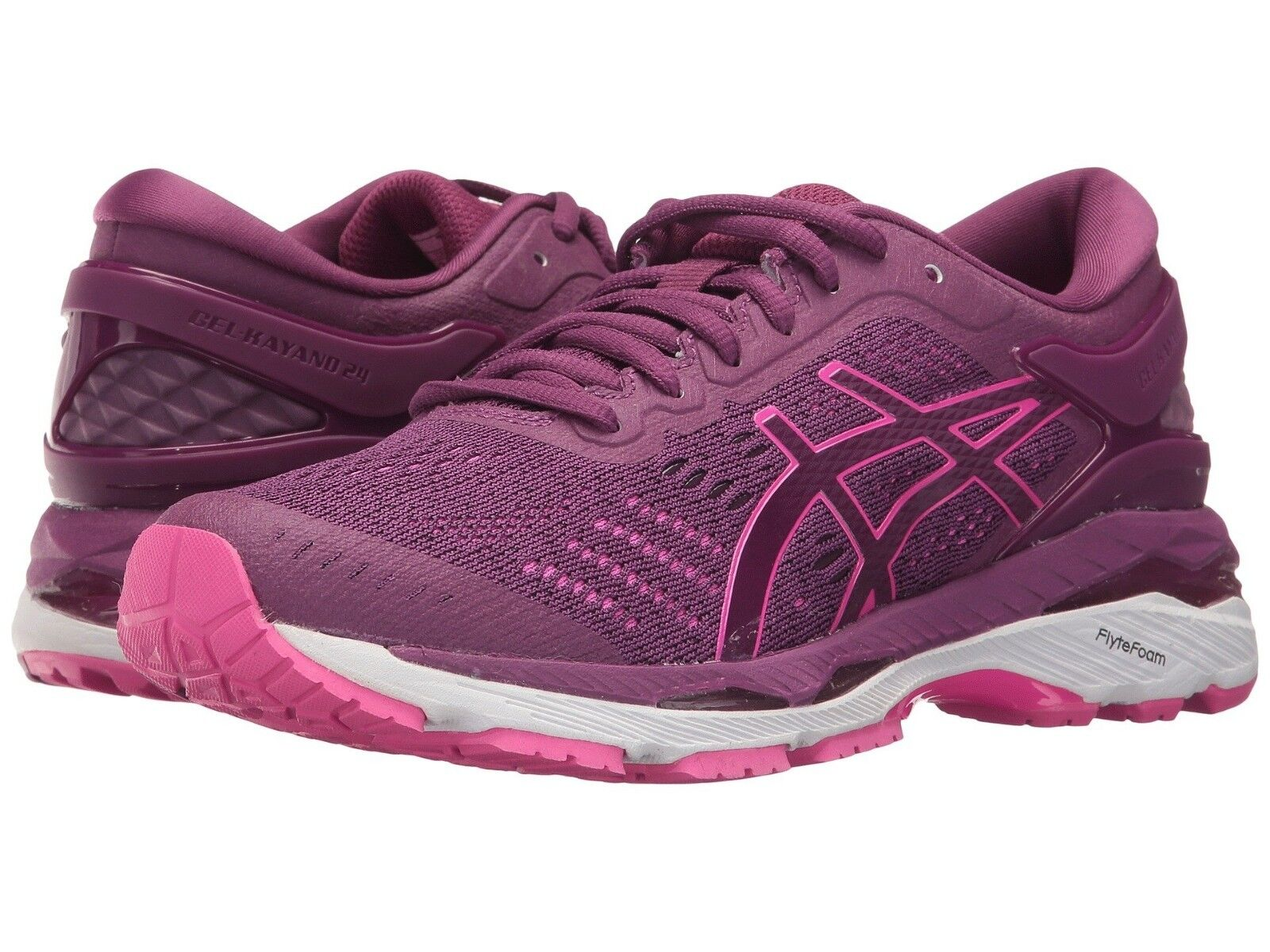 Asics Gel Kayano 24 Para Mujer Zapatos Para Correr (Talla (Talla (Talla 5.5 - 7) Prune rosado blancoo  varios tamaños