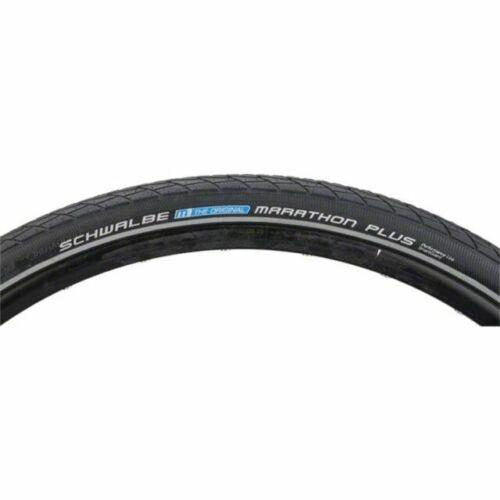 """26/"""" Bike Tyre Clincher Schwalbe Marathon Touring Wire 26X1.5/"""" Black//Reflex"""