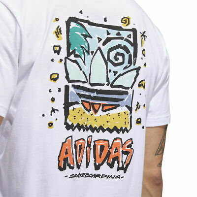 tugurio Permanente Inválido  Brand New Mens Adidas Skateboarding Roanoke T-Shirt White Pyrite Orange  Mint S | eBay