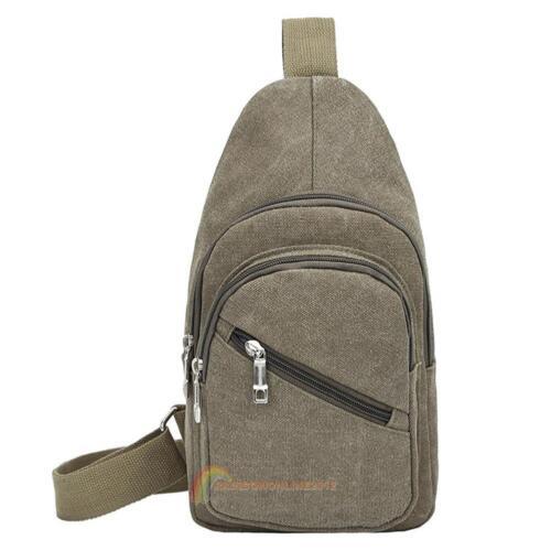 Men/'s Chest Sling Bag Shoulder Cross Body Bag Sports Day Pack Satchel Backpack