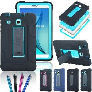 reputable site a7a74 0c12a Details about Heavy Duty Armor Stand Impact Case Cover for Samsung Galaxy  Tab E 8.0
