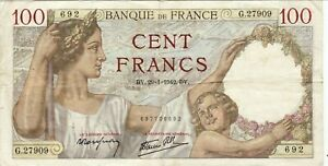 100 Francs Sully 29/01/1942 Dans Son Jus !! Dessins Attrayants;