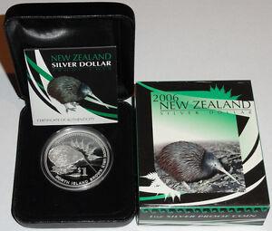 Neuseeland-1-Oz-Silber-Kiwi-2006-PP-im-Etui