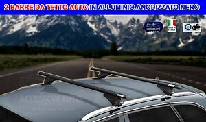 Barre-Portatutto-Portapacchi-Alluminio-Fiat-500-X-dal-2015-set-bagagli-auto-Kit