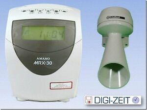 AMANO MX 300 Rechnende Stempeluhr mit  Pausengong NEU mit Garantie