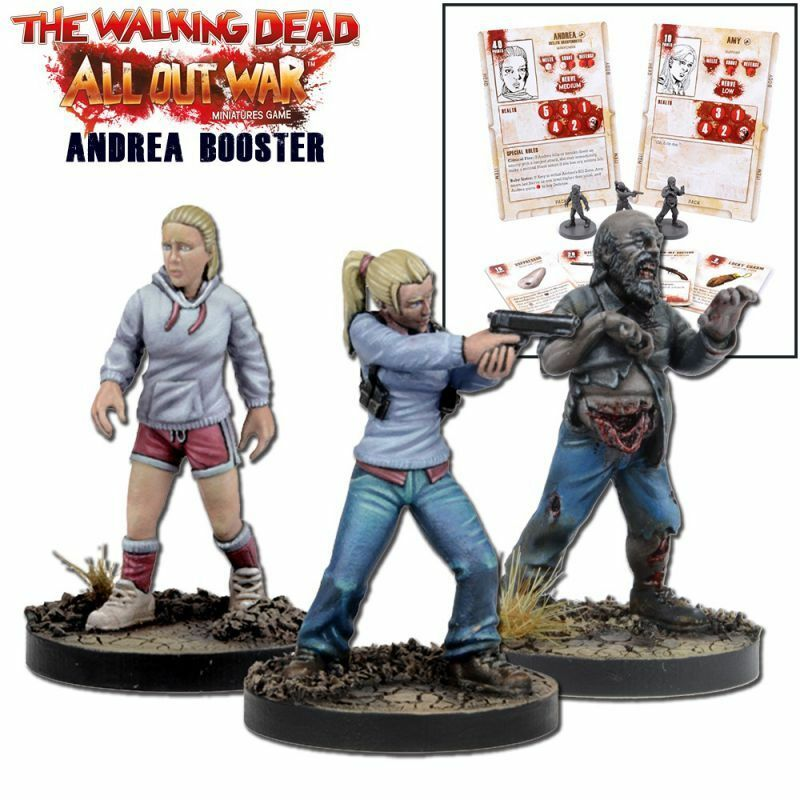 The Walking Dead Andrea Booster Booster Booster (English) all out War Mantic Games Amy Zombie 27b321