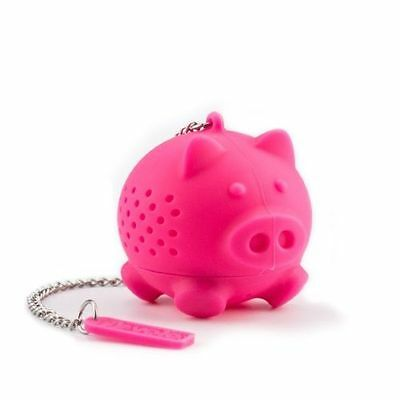 Tovolo Pig Tea Infuser/Steeper Pink Silicone