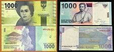 Indonesia 1000 Rupiah Pair (new and old design) (UNC) Last 2 Digit Same