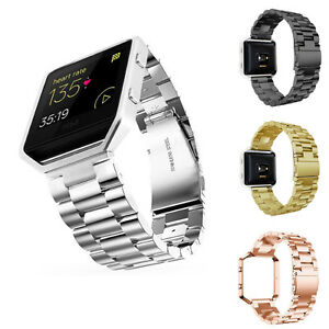 Genuine-Stainless-Steel-Bracelet-Strap-Watch-Band-For-Fitbit-Blaze-Smart-Watch