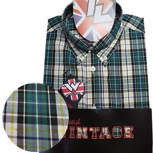 Warrior-UK-England-Button-Down-Shirt-TOOTS-Slim-Fit-Skinhead-Mod-Retro