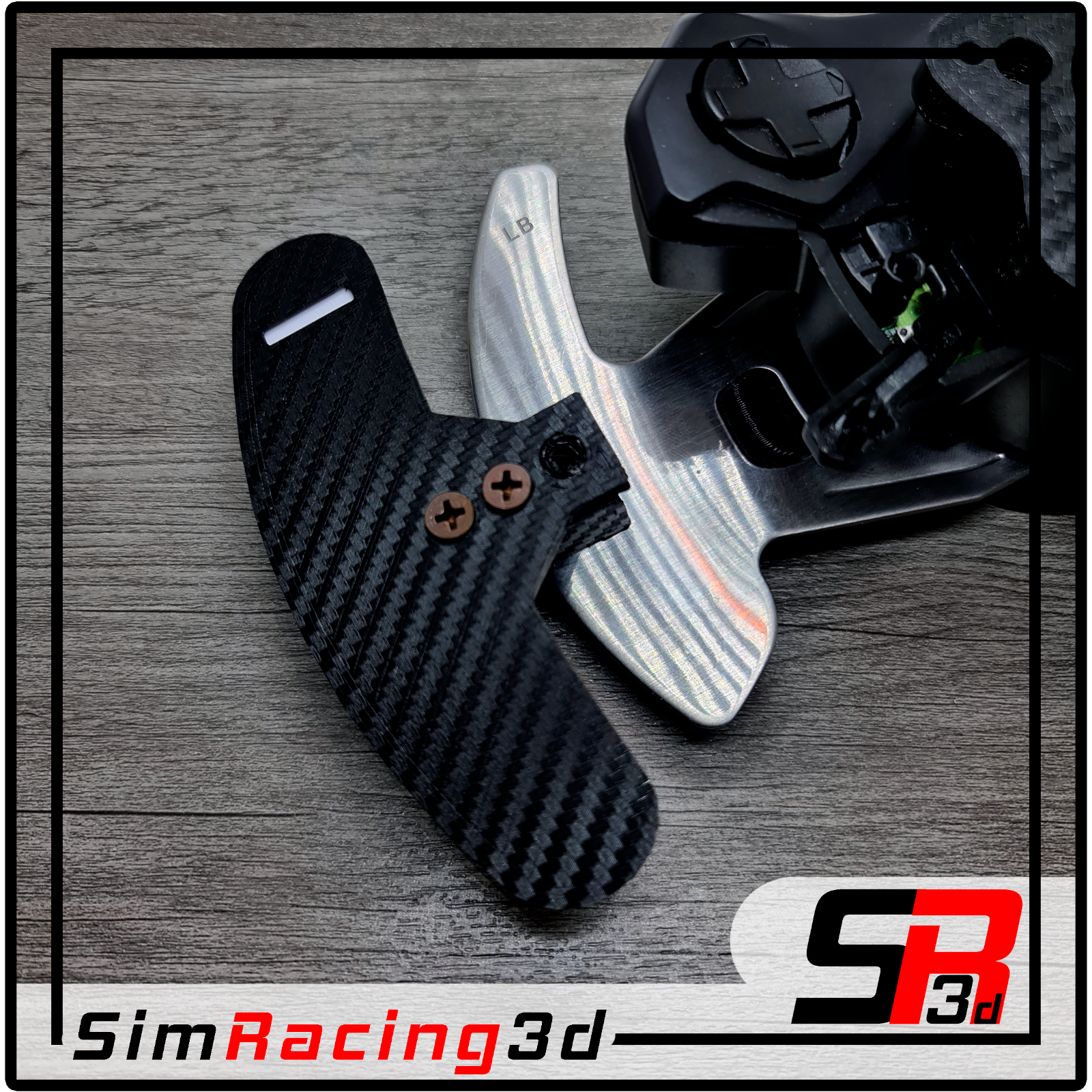Logitech 923 G29 G27 G25 G920 Paddle Shifter Mod for Flat Dish Rims Carbon look