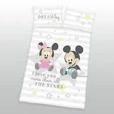 Disney Minnie Mickey Mouse Baby Bettwäsche  40 x 60 cm + 100 x 135 cm