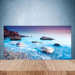 Kuchenruckwand Aus Glas 100x50cm Esg Spritzschutz Meer Steine Strand