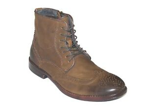 5a29c1f4487 Men's STEVE MADDEN Soft Vintage Leather Boot Wing tip Zipper, Lace ...