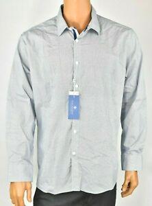 Ryan-Seacrest-Mens-Shirt-New-XL-Navy-Print-Long-Sleeve-Causal-Dressy-Party-89