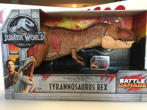 Jurassic World Roarin 'Trex super colossal Tyrannosaurus Rex Battle Damage 2018