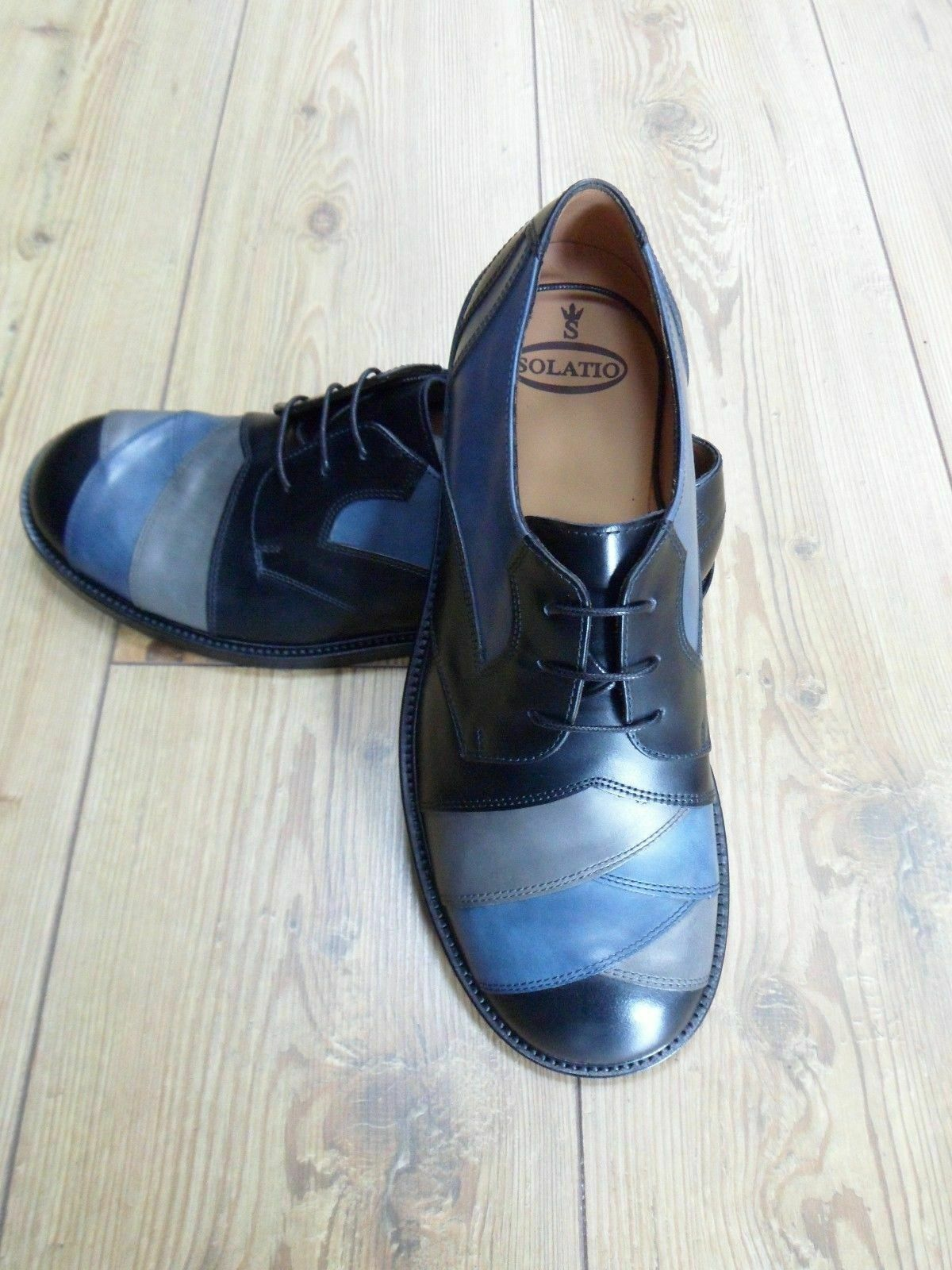 Solatio Original Credver Leather bluee Mix Size 10 Ltd Edition Northern Soul