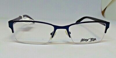 ded2b570cf52 Details about Steven Tyler Eyeglass Frames Mens Navy Blue Glasses Optical  ST400
