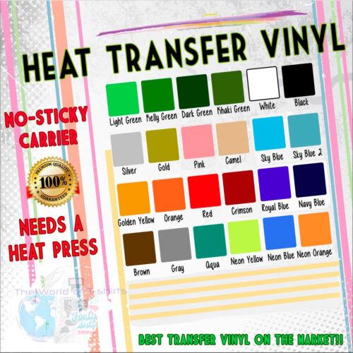 "T Shirt HTV Vinyl PVC for Garment Clothing Heat Press Transfer Sold 20/"" PVC"