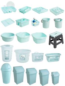 Wham-Swing-Bin-Bowl-Dish-Drainer-Tray-Tidy-Storage-Stool-Duck-Egg-Blue-Kitchen