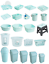 Wham-Swing-Bin-Bowl-Dish-Drainer-Tray-Tidy-Storage-Stool-Duck-Egg-Blue-Kitchen thumbnail 1