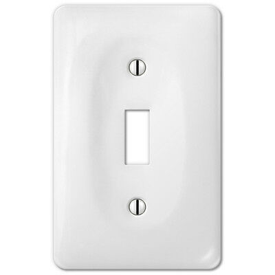 Rocker Light Switch >> White Porcelain Toggle Switchplate Ceramic Wall Plate Outlet Rocker Light Switch Ebay
