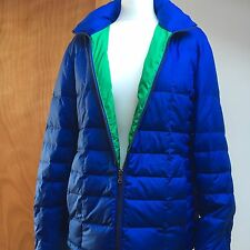 Blue Quilted Coat Size L Large 80% Duck Down New With Tags RRP $159.00 Talbots
