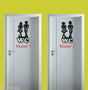 WC Aufkleber Bad Tür Aufkleber, b01 Badezimmer Gäste Toilette ...