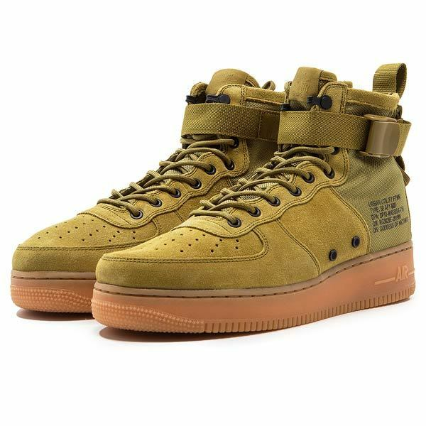 Nike Special Force Air Force 1 Mid Desert Moss Gum Brown