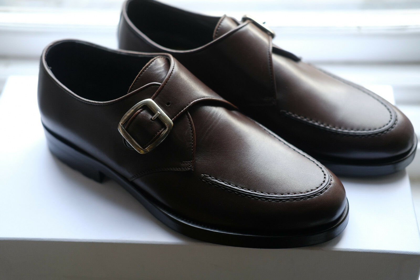 NEW Mens Mr Hare Brown Bacon Single Monkstrap shoes. UK6, RRP