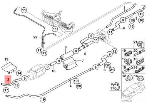 Genuine BMW E46 Compact Convertible Coupe Rear Fuel Feed Line OEM 16127175994