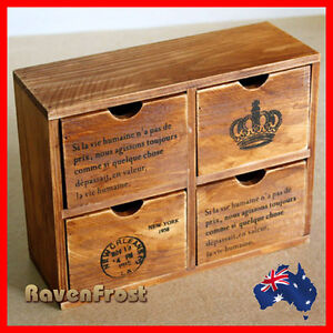 French-Provincial-Timber-Pigeon-Hole-Mounted-Chest-of-4-Drawers-Storage-A1
