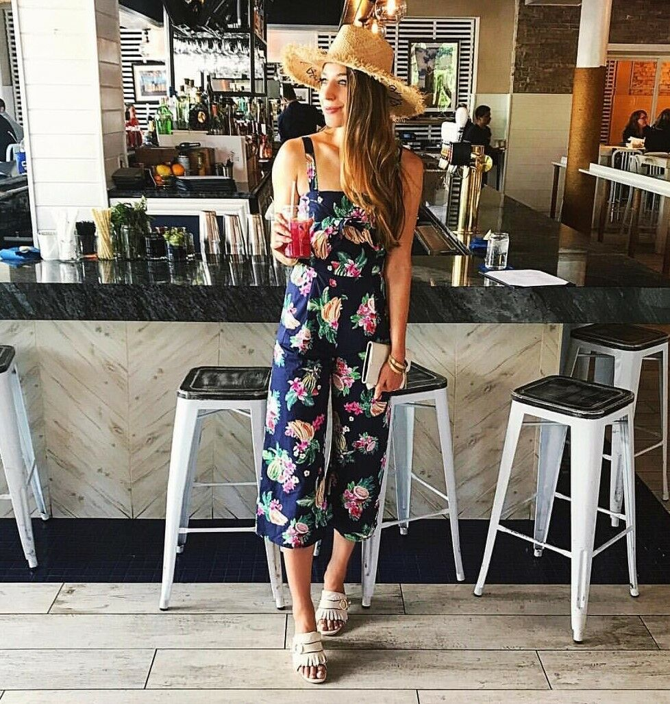 ZARA AW2017 FLORAL NAVY FLORAL JUMPSUIT PLAY SUIT SIZE M BLOGGERS SOLD OUT