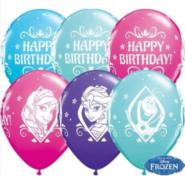 "Disney Frozen 11"" Latex Balloons Girls Birthday Decorations Helium Quality"