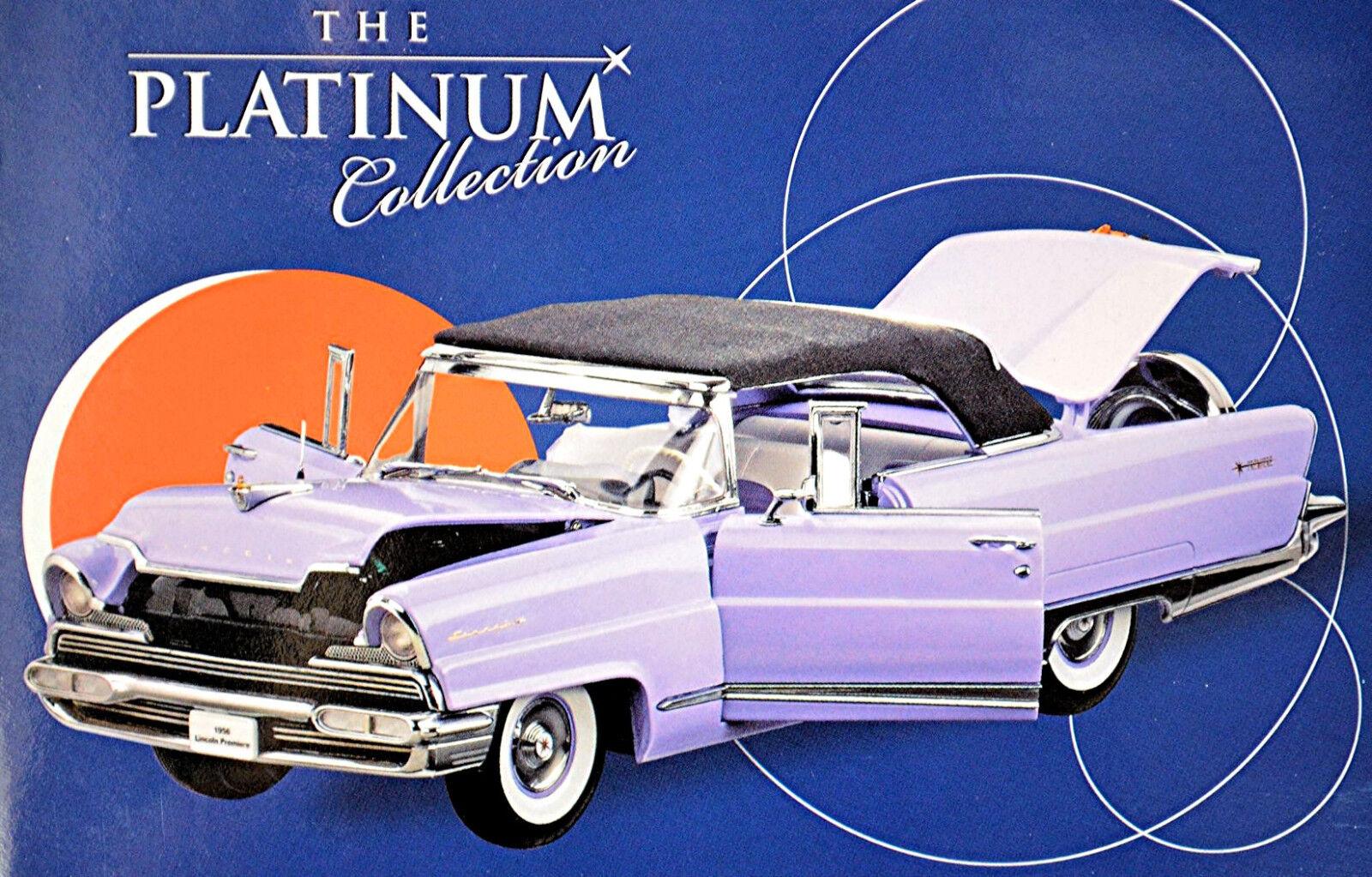 Lincoln Premiere closed converdeible 1956 púrpuraa 1 18 Sun Estrella Platinum Coll.